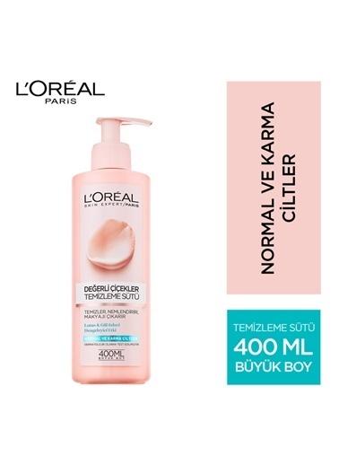 L'Oréal Paris Loreal Değerli Çiçekler Temizleme Sütü Normal Ve Karma Ciltler 400 Ml Renksiz